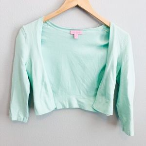 Lilly Pulitzer Mint Green Shrug Sweater | S